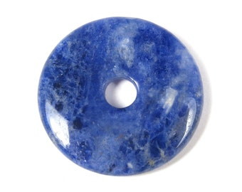 25.5x3.5mm Sodalite Small Donut Focal Pendant - #WB6002