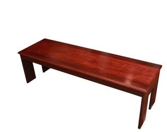 purple heart and zebra wood coffee table