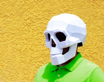 DIY Skull Mask. | Skull mask | Halloween Masks | papercraft | Halloween mask | Calavera | Skull and bones | Halloween Costume | Costume Mask