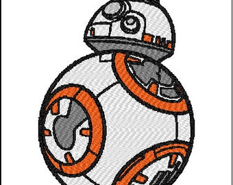Star Wars Embroidery Design BB8 bb-8 Force Awakens