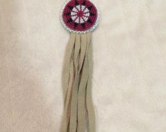 Key Chain Native American Hand Made Beaded Flat