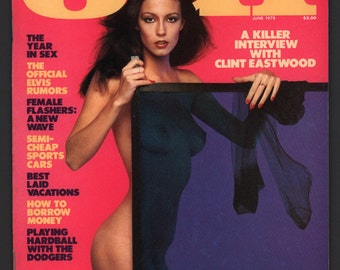 Mature Vintage Playboy's OUI Magazine Mens Girlie Pinup Magazine : June 1978 Ex+/NrMt White Pages Intact Centerfold High Grade Unread