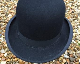 RESERVED FOR GRETA A Black Vintage Bowler Hat.