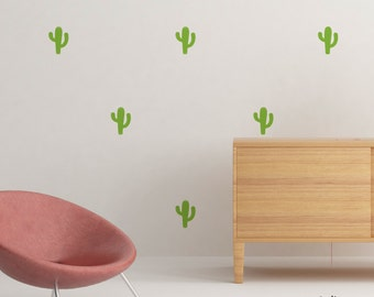 Kit of stickers wall cactus color choice