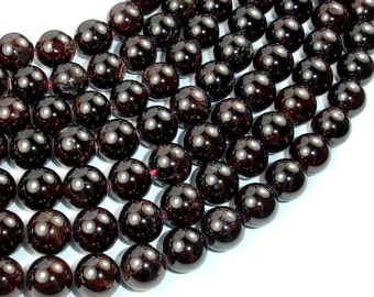 Red Garnet, 10mm Round Beads, 15.5 Inch, Full strand, Approx 39 beads, Hole 1 mm (370054020)
