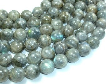 Labradorite, 12mm Round Beads, 16 Inch, Full strand, Approx 34 beads, Hole 1 mm (295054006)