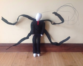 Posable Slenderman Creepypasta Halloween Teddy Rag Doll Toy Decoration Horror Monster