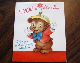 1950s USED Card, Father's Card, no envelope