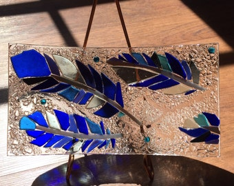 Fused Glass Sushi Dish: Serving dish, platter, plate, curved glass