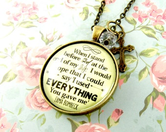 When I Stand Before God Christian Sayings Faith Quote Pendant Necklace Faith Keychain Work Hard Be Nice Volunteer Gift