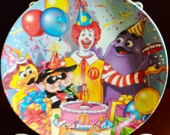 Ronald McDonald Birthday Plate