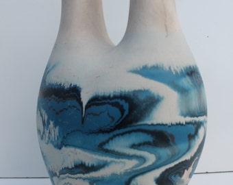 Vintage  Large  Nemadji  Wedding Pottery Vase.