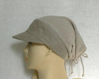 Linen cap, summer cap, women's cap,