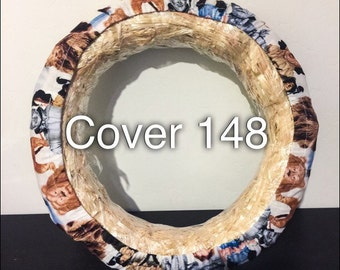 Wizard of OZ Dorothy, Scarecrow, Cowardly Lion, and Tin Man Print Steering Wheel Cover