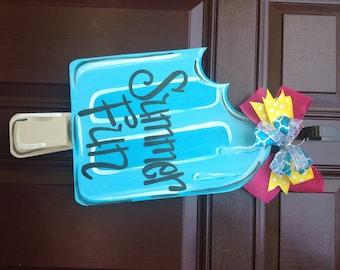 Summer Door Hanger/Popsicle Door Hanger/Ice Cream Door Hanger/The Gilded Polka Dot