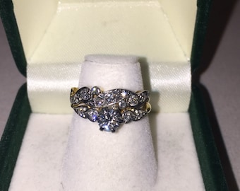 An Art-Deco Diamond engagement ring and matching wedding band by W. Drummond and Co