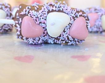 Belgian Chocolate & Marshmallow Lollipos