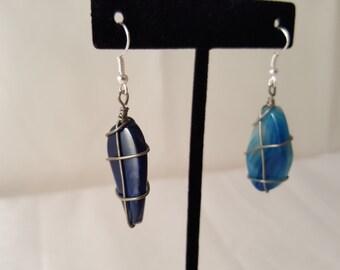 Blue Stone Earrings - Colorful Stone Earrings - Stone Earrings - Blue Earrings - Women's Earrings - Blue Stone - Blue - Stone - Earrings