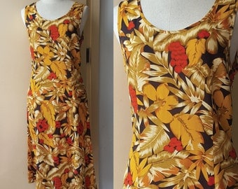 Buy 2 get 1 free,Vintage forest dress, Summer dress, Day dress,  Tropical Dress,Small Dress, Medium Dress