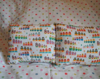 White Russian Doll print scatter cushion