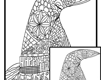 Halloweeen Witches Hat Printable Coloring Page