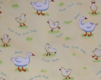 Duck, Duck, Goose Flannel by Ingrid Slyder (23120-14F) Quilting Fabric.   by the 1/2 Yard