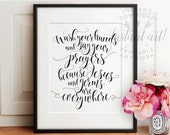 Wash your hands and say your prayers PRINTABLE bathroom wall decor,bathroom printable art,printable bathroom,kitchen wall art,bathroom print