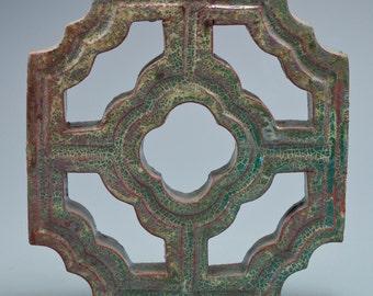 Green glazed Chinese tile