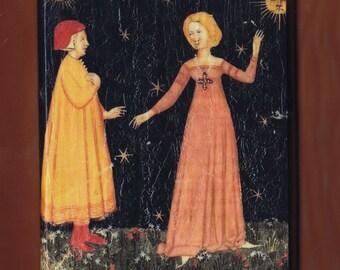 Dante: Divina Commedia 1380-1400. Manuscript (Cod. It. IX. 276) Biblioteca Nazionale Marciana, Venice.FREE SHIPPING