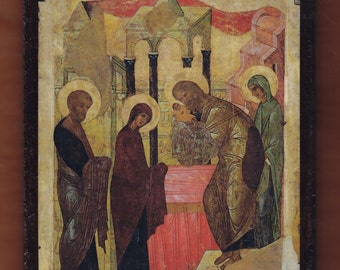 Presentation of Jesus at the Temple.Christian orthodox icon. FREE SHIPPING