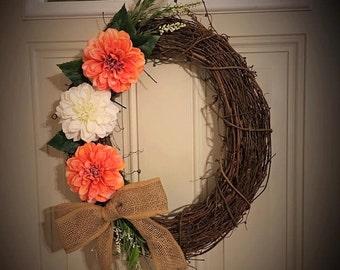 Medium Grapevine wreath/spring wreath/summer wreath