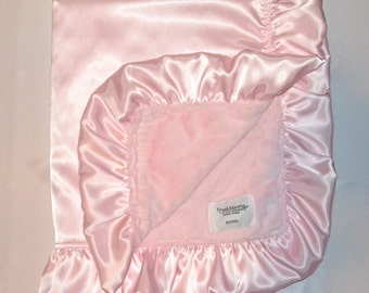 Satin Collection Pink/pink, Baby/toddler blankets, Handmade.