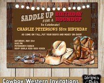 Western Invitations-Cowboy's Party-Western Party-Cowboy Invitations-Print your own-Adult invitations-Boots Invitations-Spurs invitation