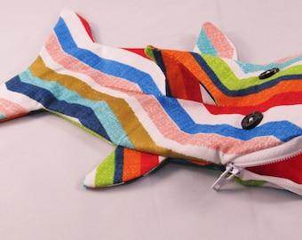 Shark bag- multicolor zigzags