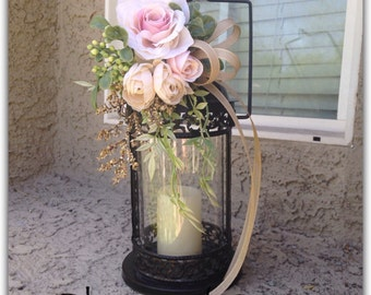 Pew, swag decoration, elegant, southern wedding style, ( lantern NOT included)