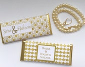 Gold and white wedding, White and gold, personalized wedding favors, white gold, anniversary favors, bridal shower, personalized candy bar