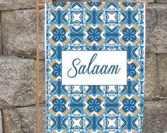 Personalized garden flag, garden sign, Ramadan decoration, garden decor, Eid gift, moroccan, housewarming gift, Islamic gift, Muslim gifts