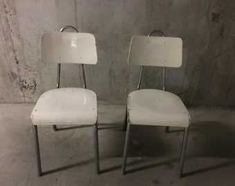 Pair of 50s kitchen Chair