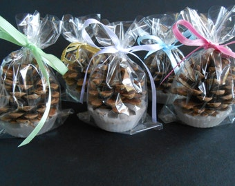 25 Pine Cones Fire Starter Wedding Favors , Wedding Favor - woodland, victorian,rustic, shabby chic