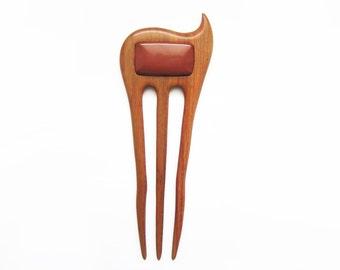 Wooden Hair Fork, hairfork, wood, hair stick, 3 prong