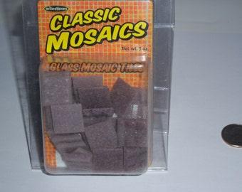 "Classic Mosaic Glass Tiles, 1"" square, 3oz, purple mix"