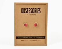 Strawberry Earring Strawberry Stud Earring Strawberry Jewelry Strawberry Accessories Fruit Earring Fruit Jewelry Kawaii Strawberry Gift Idea