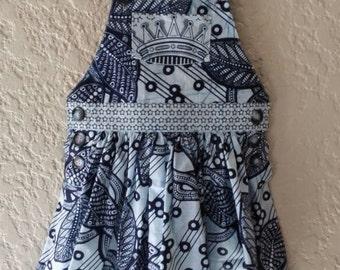 Crown-star Pinafore Dress