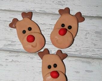 Fondant Cake Decoration Topper Edible Reindeer Christmas