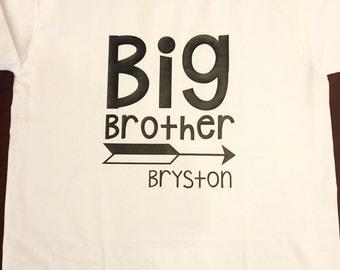 Big brother shirt, sibling shirt, little brother, sibling outfits, custom name shirt, boys shirt, boys custom shirt, baby shower gift