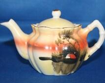 Vintage Hand Painted Miniature Teapot Made in Japan Tea Pot