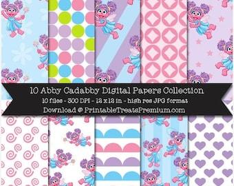 50% OFF Abby Cadabby Digital Paper Pack
