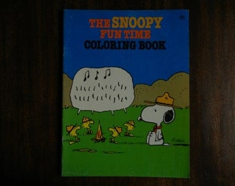 The Snoopy Fun Time Coloring Book ~ 1979