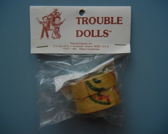Trouble Dolls ~ New in original packaging ~ Made in Guatemala ~ 1981