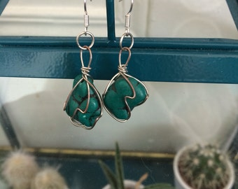 Vintage upcycled earrings